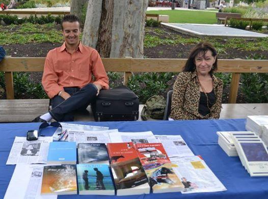 Deux amis écrivains au jardin du livre 2014