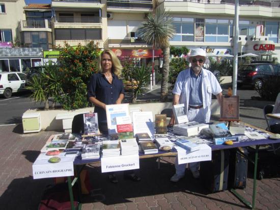 salon à Palavas avec Hatim des éditions du Lys